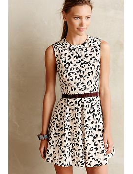 leopop-flared-dress by anthropologie