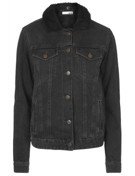 moto-black-borg-western-jacket by topshop