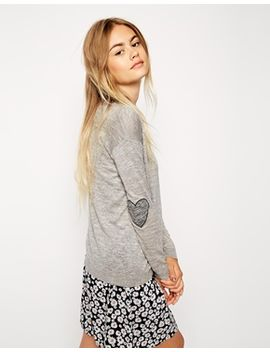 asos-sweater-with-heart-elbow-patch by asos-collection