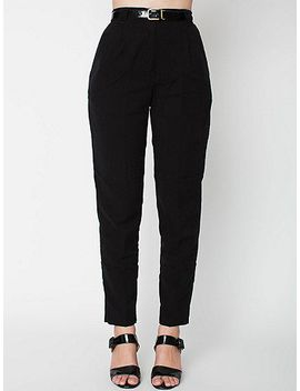 micro-poly-high-waist-pleated-pant by american-apparel