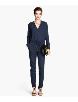 lyocell-blend-jumpsuit by h&m