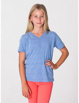 youth-tri-blend-v-neck-t-shirt by american-apparel