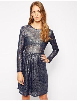 supertrash-deserve-lace-dress-in-coated-storm-gray by supertrash