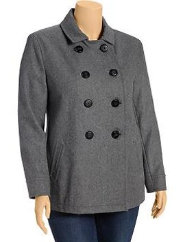 womens-plus-wool-blend-peacoats by old-navy