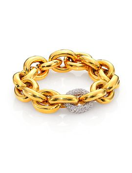 single-pavé-link-bracelet_goldtone by eddie-borgo
