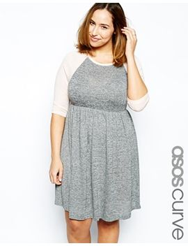 asos-curve-skater-dress-with-raglan-sleeve by asos-curve