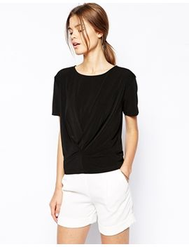 asos-top-in-crepe-with-pleat-detail by asos-collection