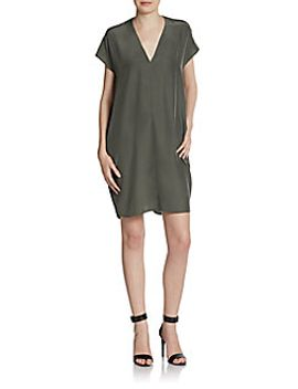 washed-silk-shift-dress by vince
