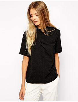 asos-high-neck-top-with-twist-detail by asos-collection