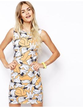 asos-bodycon-dress-in-mickey-hand-print by asos-collection