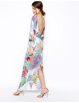 asos-digital-print-kimono-dress by asos-collection