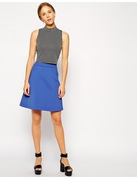 asos-premium-a-line-skirt-in-bonded-scuba by asos-collection