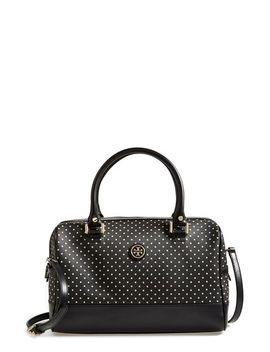 kerrington-dot-print-satchel by tory-burch