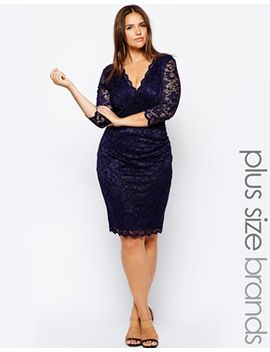 lipstick-boutique-plus-lace-pencil-dress by lipstick-boutique-plus