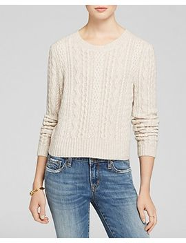 sweater---cable-crop-crewneck by aqua-cashmere
