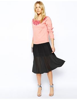 asos-midi-sheer-pleated-skirt by asos-collection