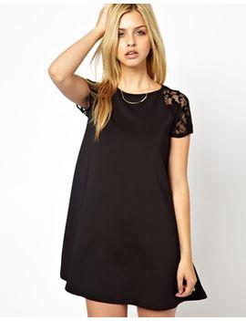 club-l-scuba-lace-detail-dress by dress