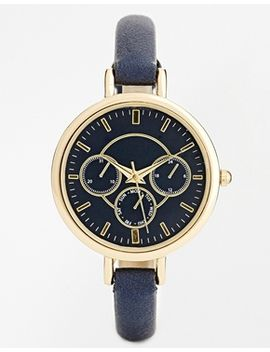 new-look-navy-tonal-dial-chronograph-watch by new-look