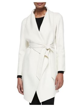 double-woven-cashmere-draped-coat,-white by neiman-marcus