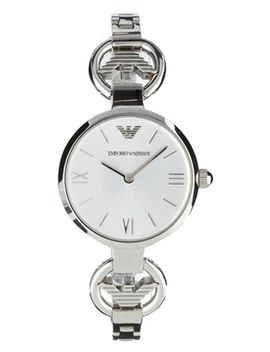emporio-armani-silver-logo-gianni-t-bar-watch by asos