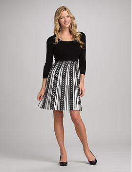 roz-&-ali™-black-and-white-sweater-dress by dressbarn