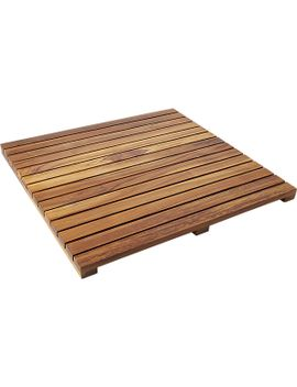 lateral-teak-bath-mat by crate&barrel