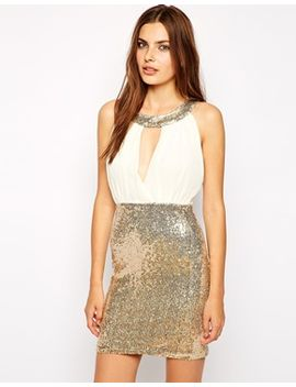 club-l-shift-dress-with-sequin-skirt by evening-dress