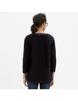 leather-trim-wool-sweatshirt by madewell