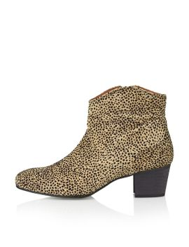 annette-suede-leopard-boots by topshop