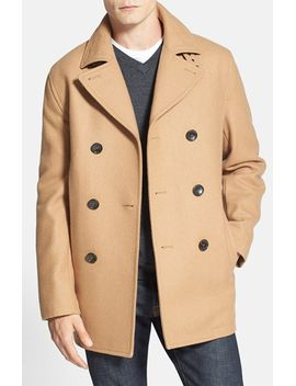 wool-blend-double-breasted-peacoat by michael-kors