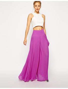 asos-pleated-wide-leg-pants by asos-collection