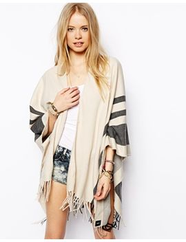 asos-stripe-blanket-cape by asos-collection