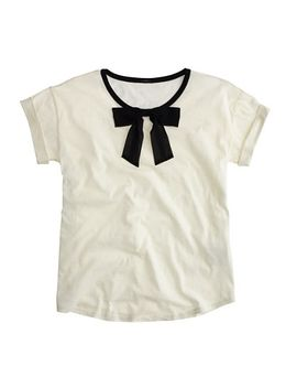 roll-sleeve-t-shirt-with-bow by jcrew