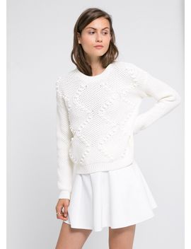 embossed-embellishment-sweater by mango
