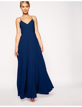 asos-pleated-cami-maxi-dress by asos-collection