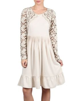 ryu-boutique-lace-romance-cream-long-sleeve-dress--s-m-l by ryu