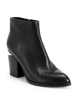 gabi-notch-heel-leather-booties by alexander-wang
