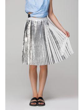 midi-skirt-in-silver-pleats by designer