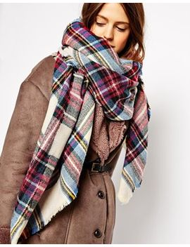 asos-oversized-square-scarf-in-check by asos-collection
