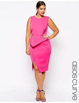 asos-curve-premium-origami-dress-with-asymmetric-detail-and-plunge by asos-curve