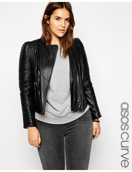 asos-curve-exclusive-premium-leather-biker-jacket by asos