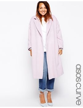 asos-curve-coat-in-relaxed-fit by asos-curve