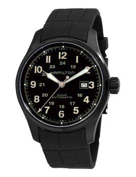 hamilton-mens-h70685333-khaki-field-black-automatic-dial-watch by hamilton