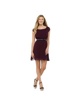 target-:-expect-more-pay-less by -flutter-sleeve-dress-wine---xhilaration®