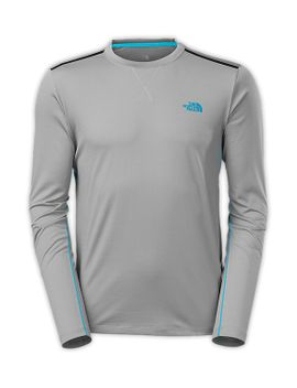 men's-long-sleeve-quantum-crew by the-north-face