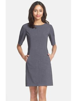 seamed-a-line-dress by tahari