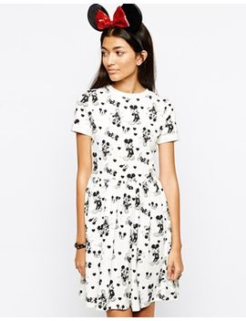 asos-–-skaterkleid-mit-micki-maus-muster by asos-collection