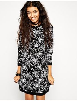 asos-knit-dress-with-halloween-cobweb-pattern by asos-collection