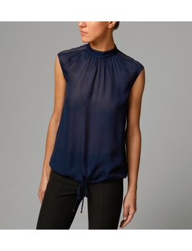 navy-loose-top by massimo-dutti