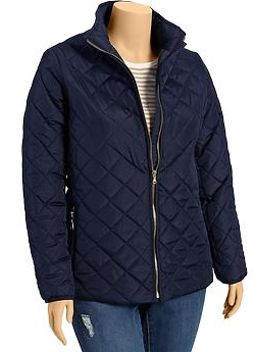 womens-plus-quilted-barn-jackets by old-navy